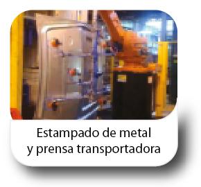 Estampado de metal y prensa transportadora
