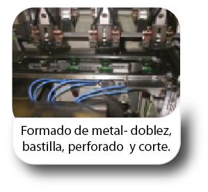 Formado de metal-doblez, bastilla, perforado y corte