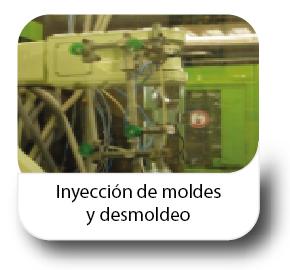 Inyección de moldes y desmoldeo