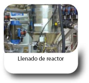 Llenado de reactor