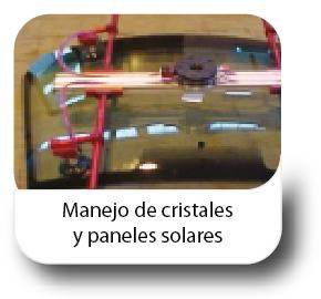 Manejo de cristales y paneles solares