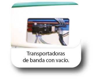 Transportadoras de banda con vacío