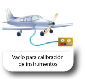 Vacío para calibración de instrumentos