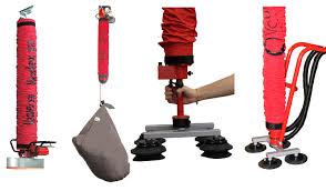 4 diferentes tipos de dispositivo Vaculex de color rojo