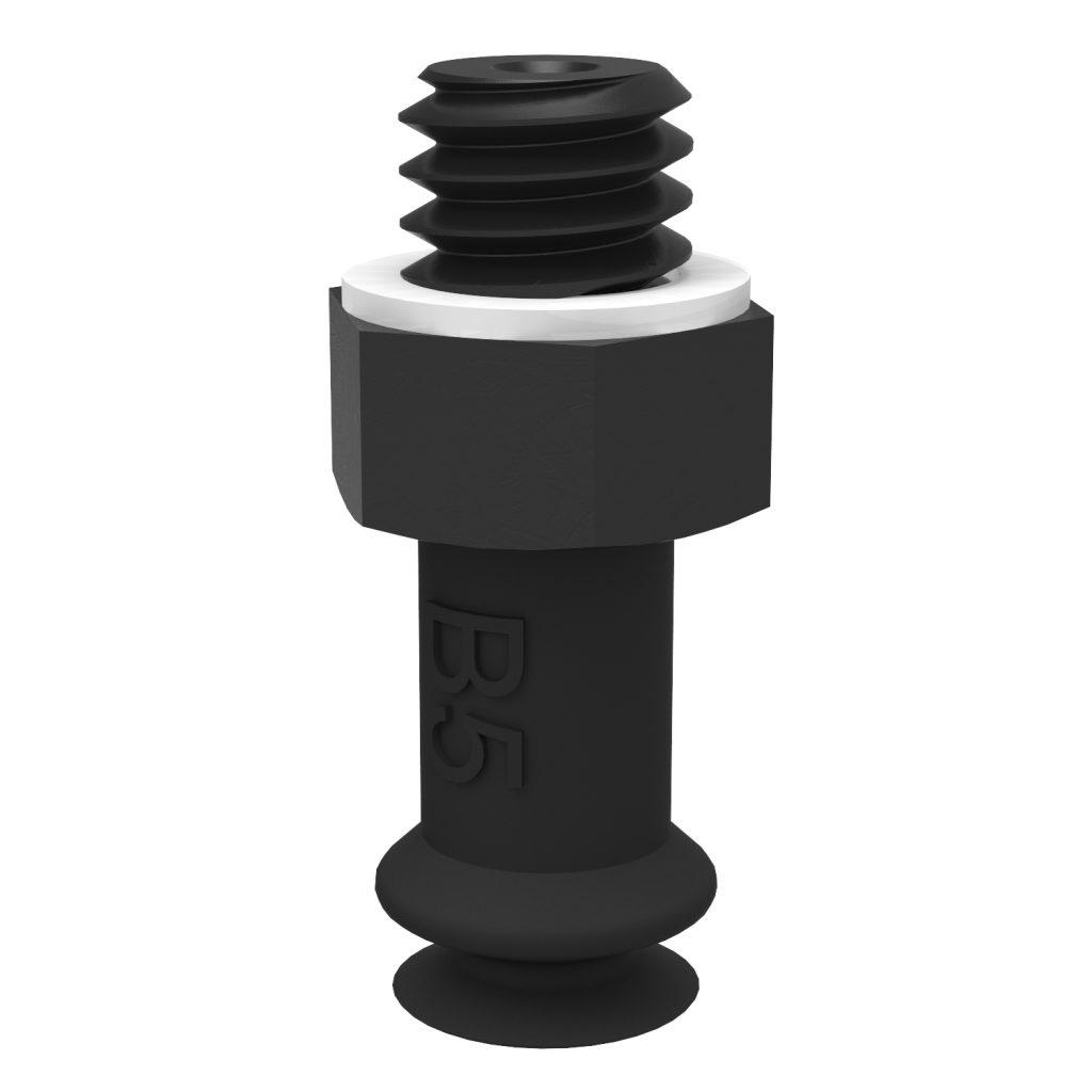 Ventosa B5 Silicona conductiva, M5 macho