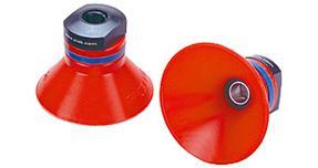 Dos ventosas profundas color rojo de la marca PIAB
