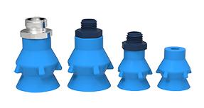 Cuatro ventosas color azul tipo pralinés, confitería, profunda y detectable de la marca PIAB